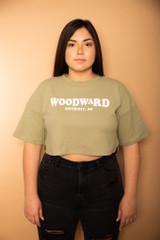 Woodward Crop Tee - Sage