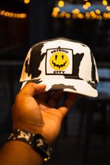 Detroit City Drippy Smiley - Cow/Aurora (Dad Hat)