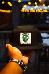 Detroit City Peace Slime - Black/Kelly Green (Bike Hat)