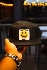 Detroit City Drippy Smiley - Black/Aurora (Bike Hat)