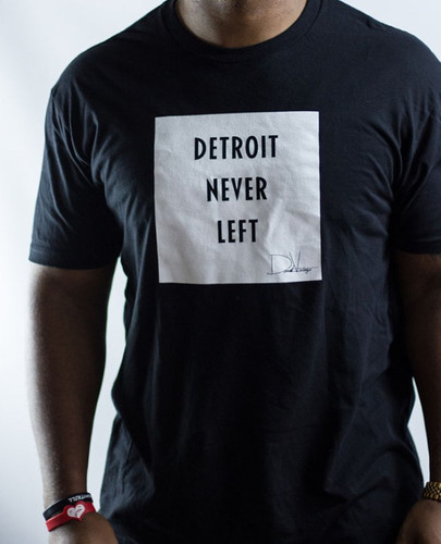 Detroit Never Left™ Tee – Black/White