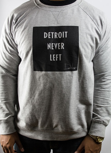 Detroit Never Left™ Unisex Crewneck – Gray/Black