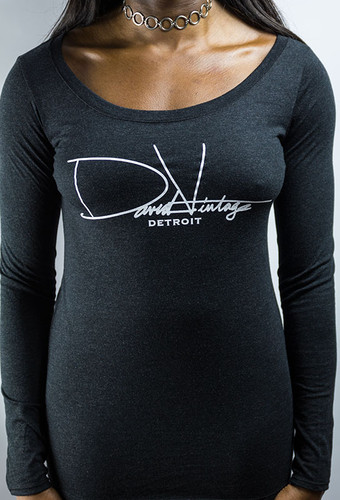 Signature Long Sleeve Scoop Neck - Vintage Black