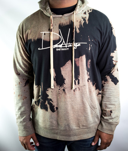 Signature Hand Stained Hoodie - Black