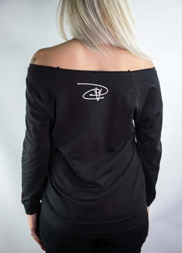 Signature Terry Raglan Boat Neck (Wmns) - Black/White