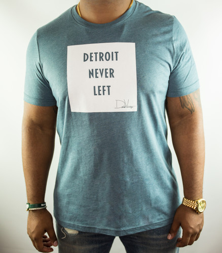 Detroit Never Left™ Tee - Heather Slate