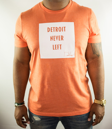 Detroit Never Left™ Tee - Heather Orange