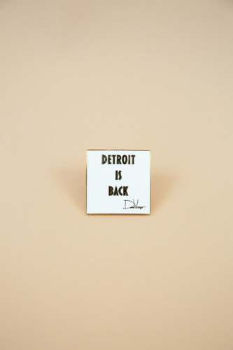 Detroit Is Back enamel lapel pin