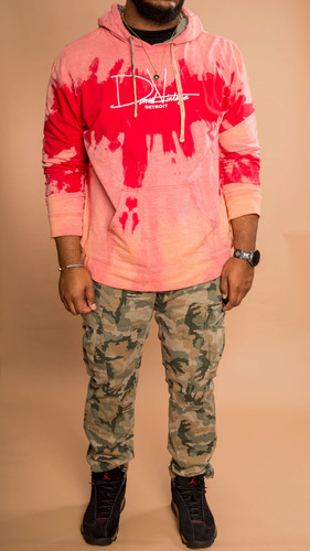 Signature Hand Stained Hoodie - Red