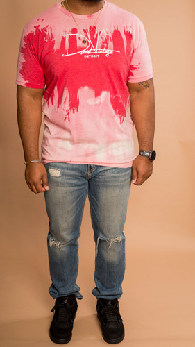 Signature Hand Stained Tee - Red