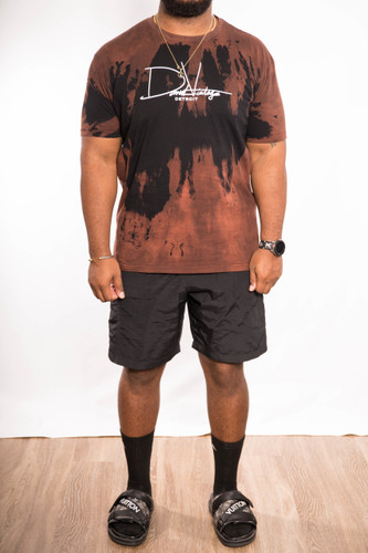 Signature Hand Stained Tee - Rust