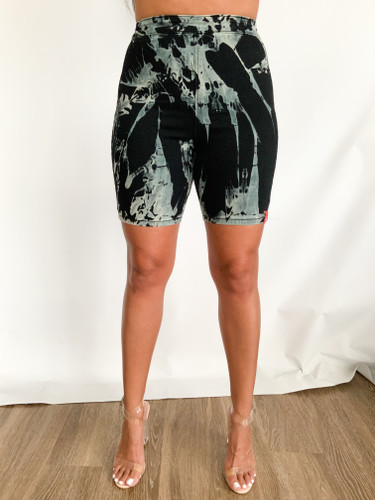 Signature Hand Stained Bike Shorts (WMNS) - Black