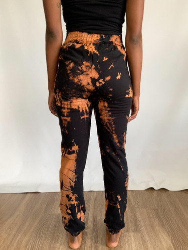 Signature Hand Stained Deconstructed Joggers (WMNS) - Black