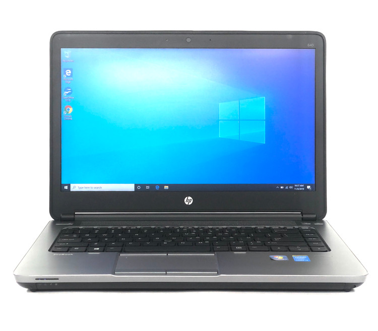 "HP ProBoook 640 G1 Laptop 14"" i3 4000M 2.4GHz 8GB 320GB Win 10 Pro No Webcam GB"