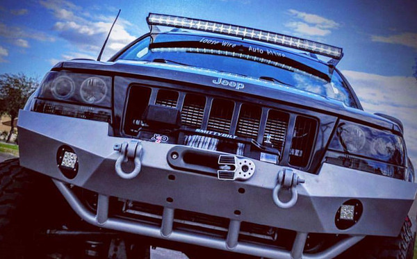 LOOSE WIRE AUTO ATTIRE BRACKET MOUNTS FITS JEEP GRAND CHEROKEE 1999-2004 WJ  FOR USE WITH a  52in. CURVED LED LIGHT BAR (SOLD SEPARATELY) Strongest Mounts in the Market! Race Proven! Our Bars Don't Budge & Always Finish ON TOP!