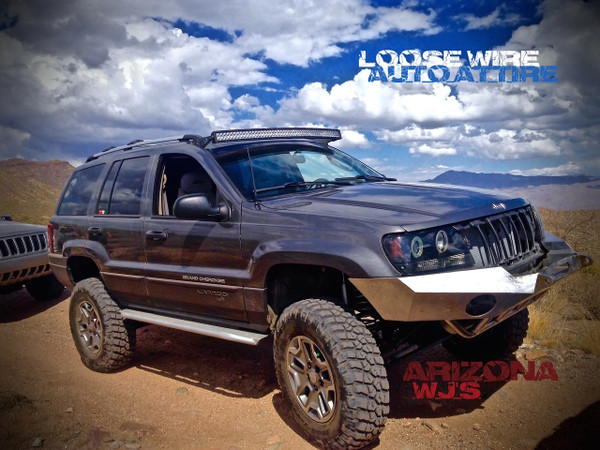 """WJ Brackets for 50"""" Curved LED light bar! Includes a set of Billet Aluminum adapters (additional charges applied, is for the adapters"""