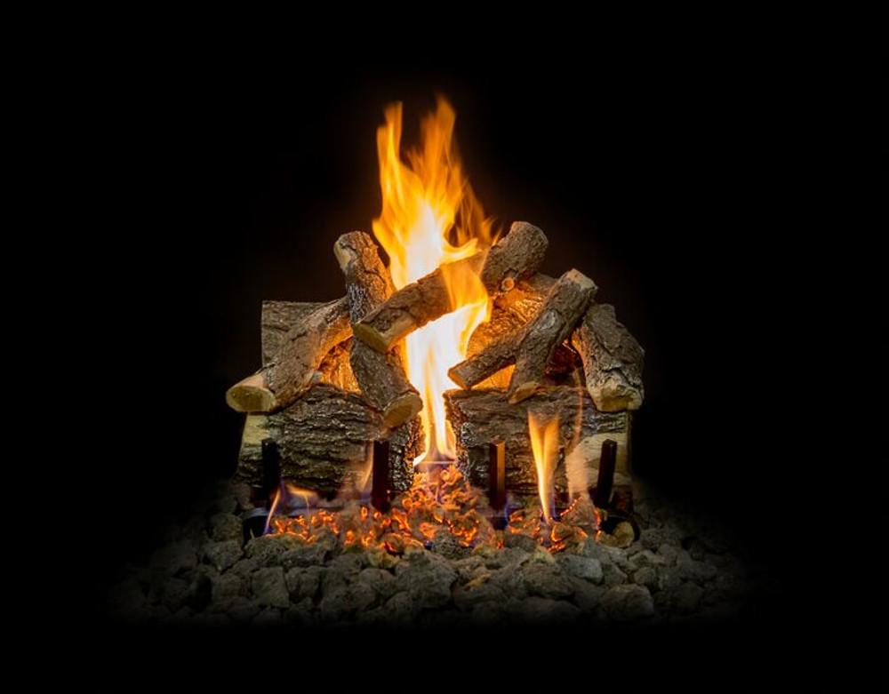 "Arizona Weathered Oak Charred Gas Log Set 18"""