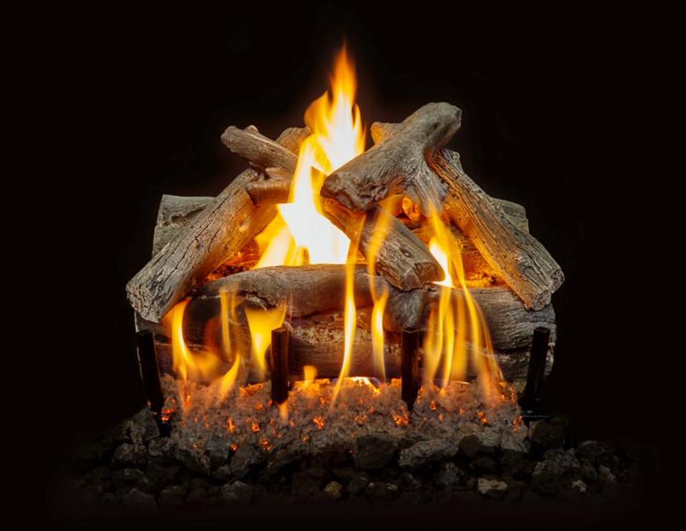 "Western Driftwood See Through Gas Log Set 18"""