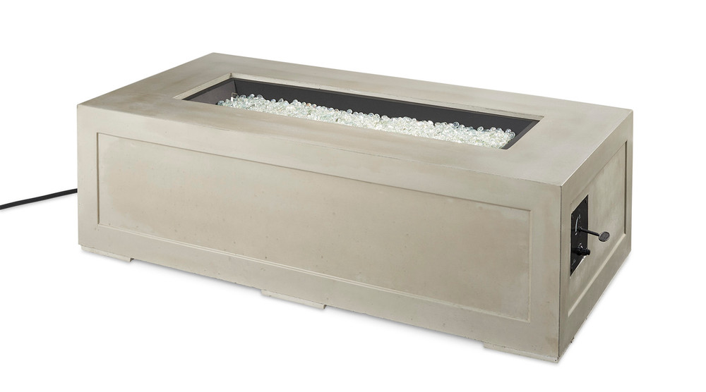 Outdoor Great Room Cove Linear Gas Fire Pit Table