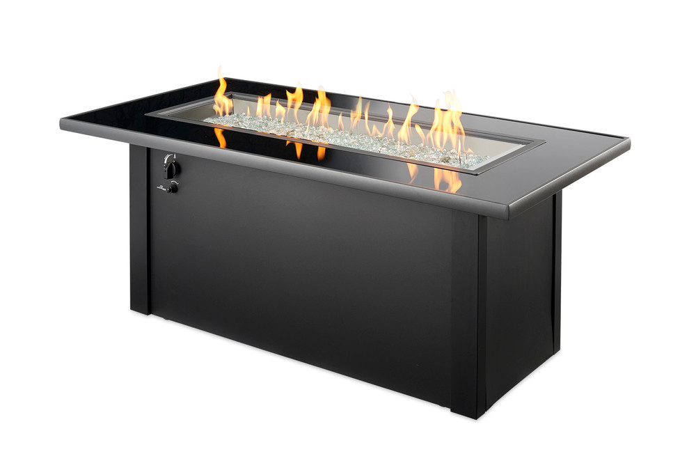 Outdoor Great Room Monte Carlo Linear Gas Fire Pit Table
