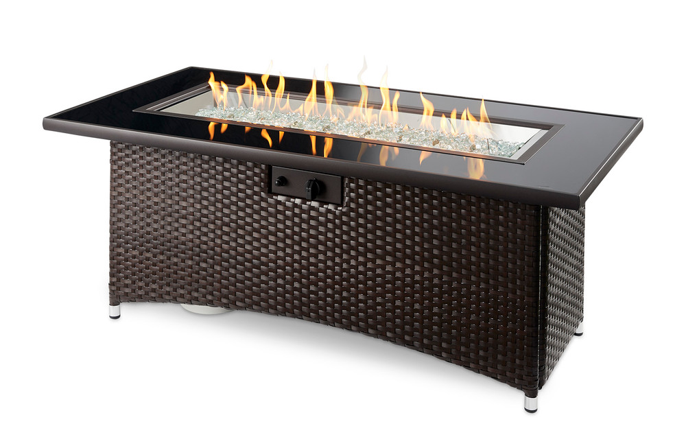 Outdoor Great Room Balsam Montego Linear Gas Fire Pit Table