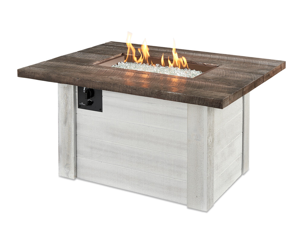 Outdoor Great Room Alcott Rectangular Gas Fire Pit Table