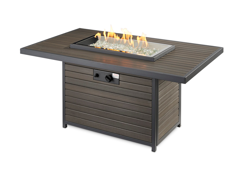 Outdoor Great Room Brooks Rectangular Gas Fire Pit Table