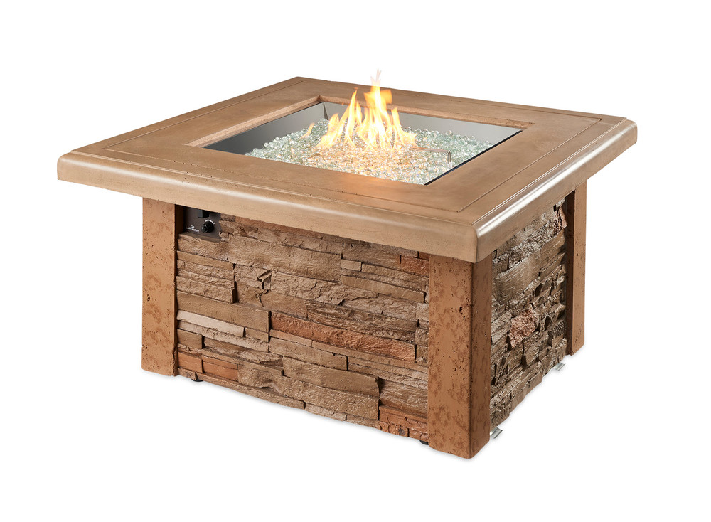 Outdoor Great Room Sierra Square Gas Fire Pit Table