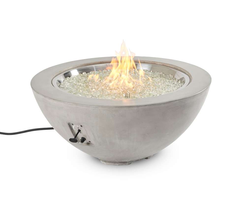 """Outdoor Great Room Cove Natural Grey Cove 42"""" Gas Fire Pit Bowl"""