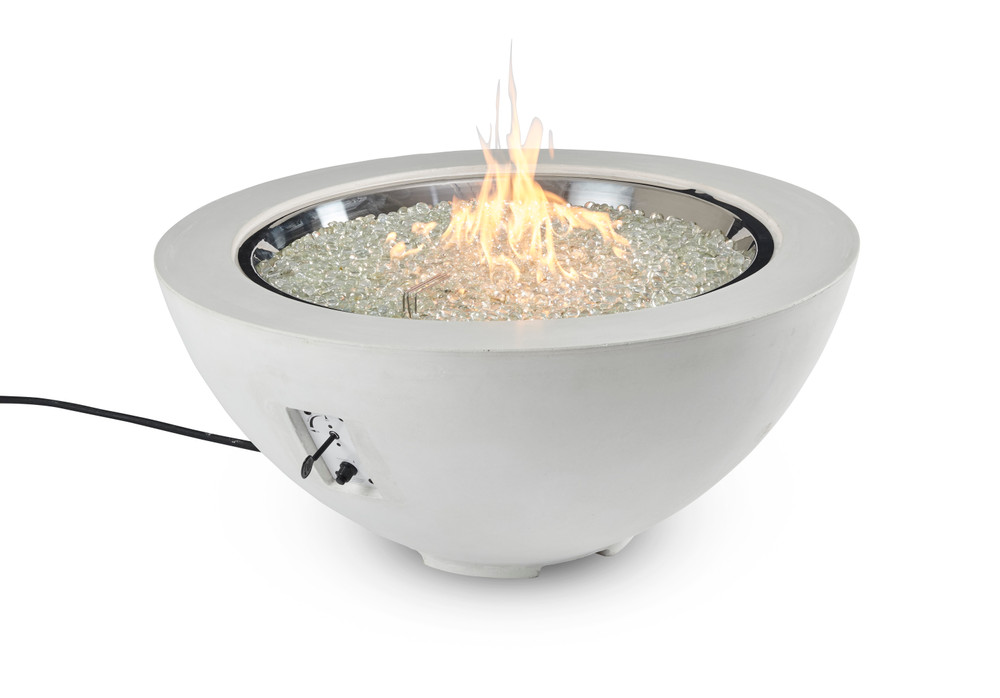 """Outdoor Great Room White Cove 42"""" Round Gas Fire Pit Bowl"""