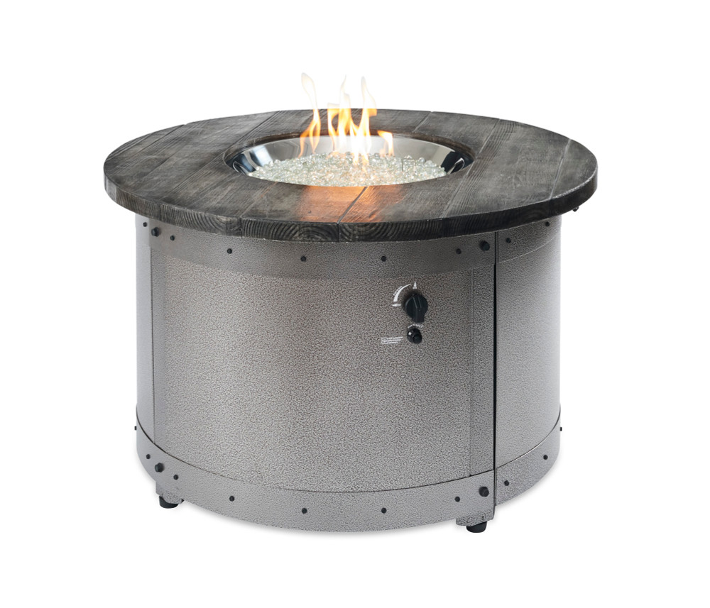Outdoor Great Room Edison Gas Fire Pit Table