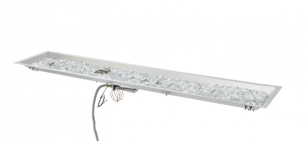 "Outdoor Great Room 12"" X 64"" Linear Stainless Steel Crystal Fire® Plus Gas Burner"