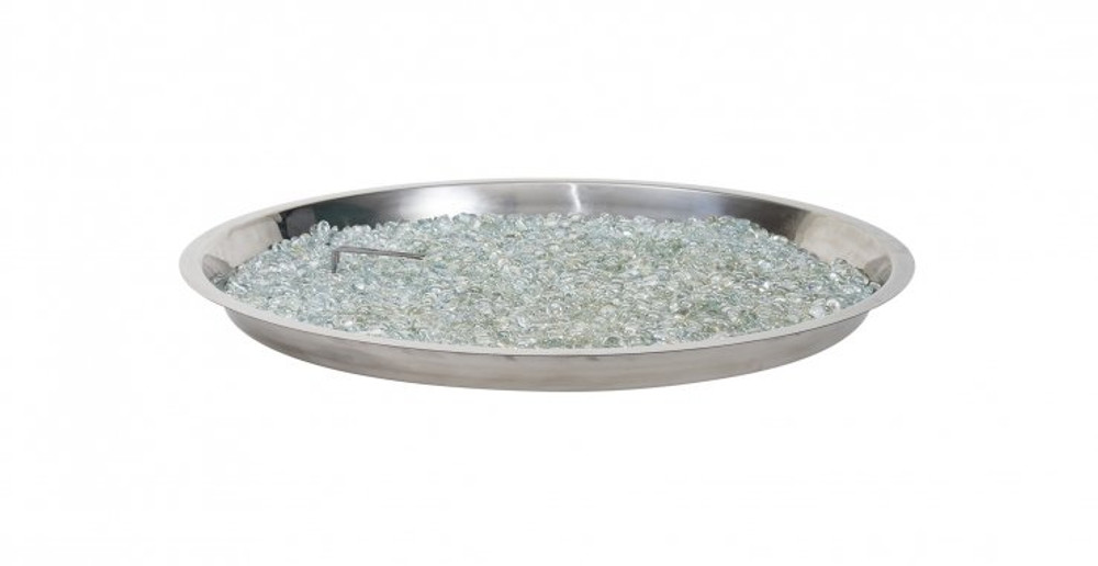 "Outdoor Great Room 30"" Round Stainless Steel Crystal Fire® Plus Gas Burner"