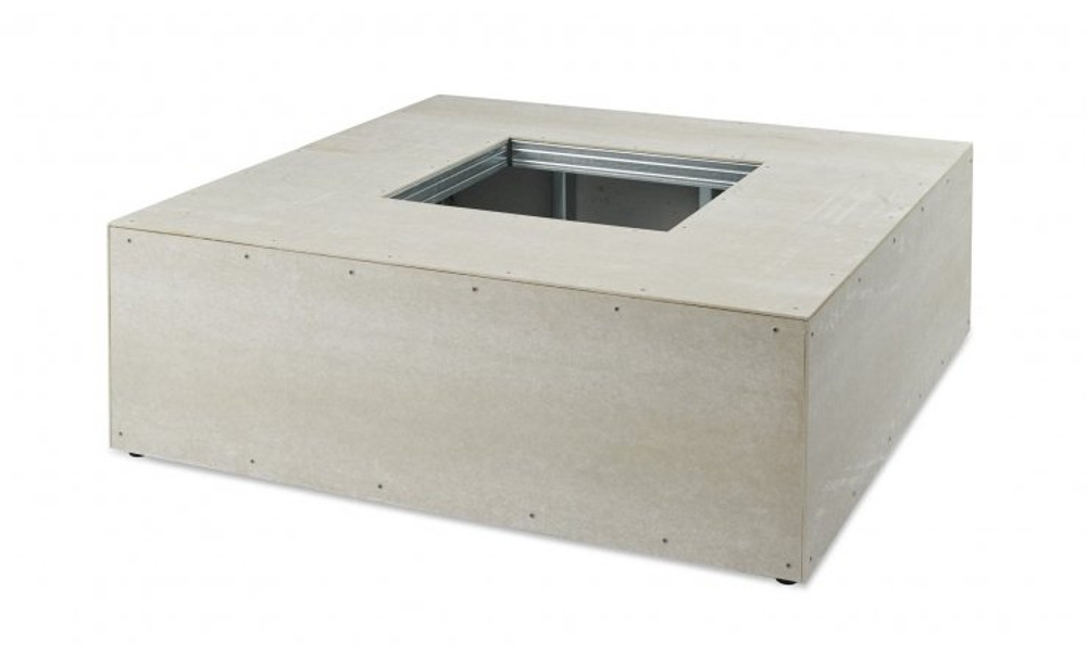 "Outdoor Great Room 48"" X 48"" Square Ready-to-Finish Fire Pit Table Base"