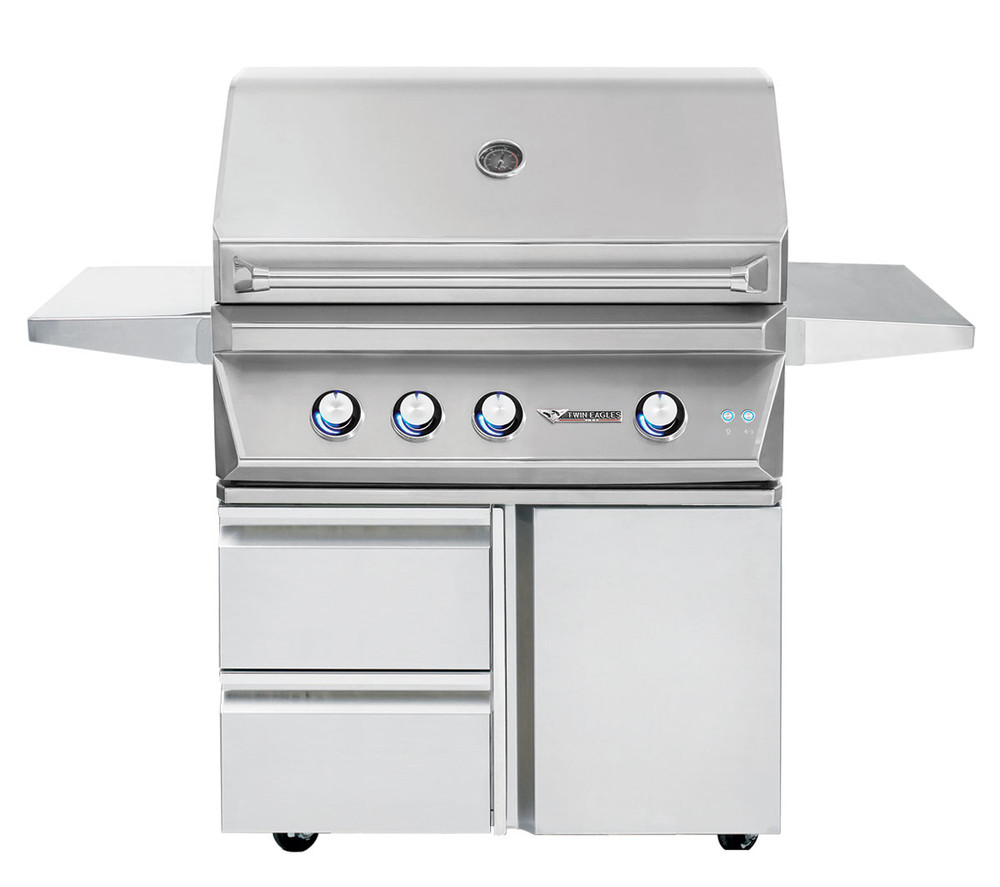 """Twin Eagles 36"""" Grill Base w/ Storage Drawers, Single Door"""