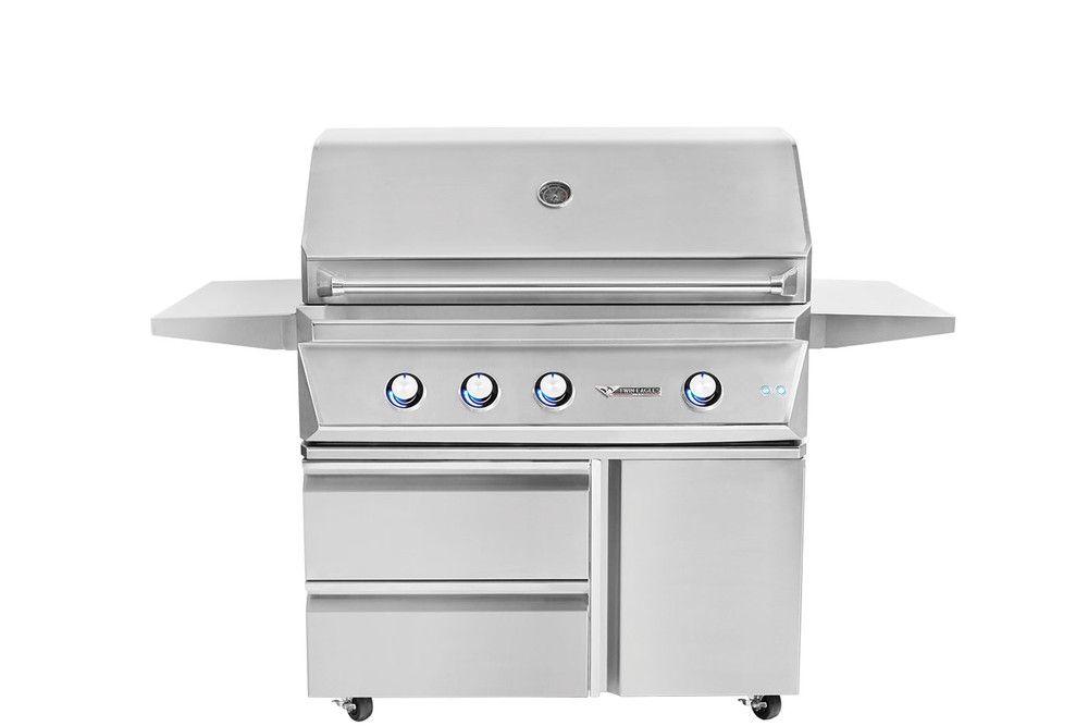 """Twin Eagles 42"""" Grill Base w/ Storage Drawers, Single Door"""