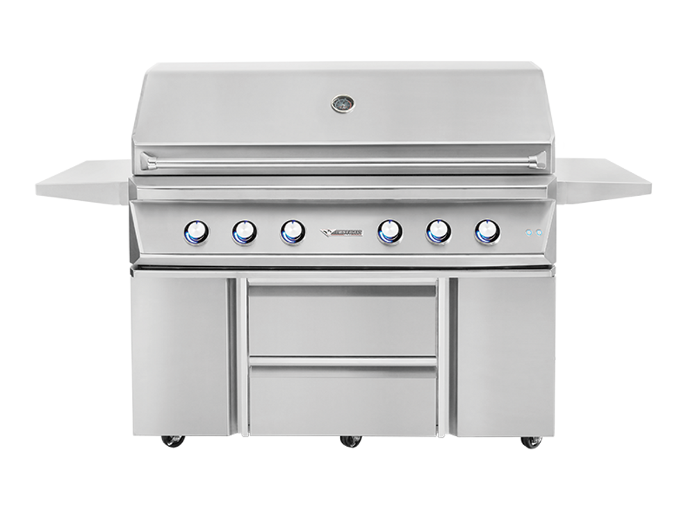 """Twin Eagles 54"""" Grill Base w/ Storage Drawers, Two Doors"""