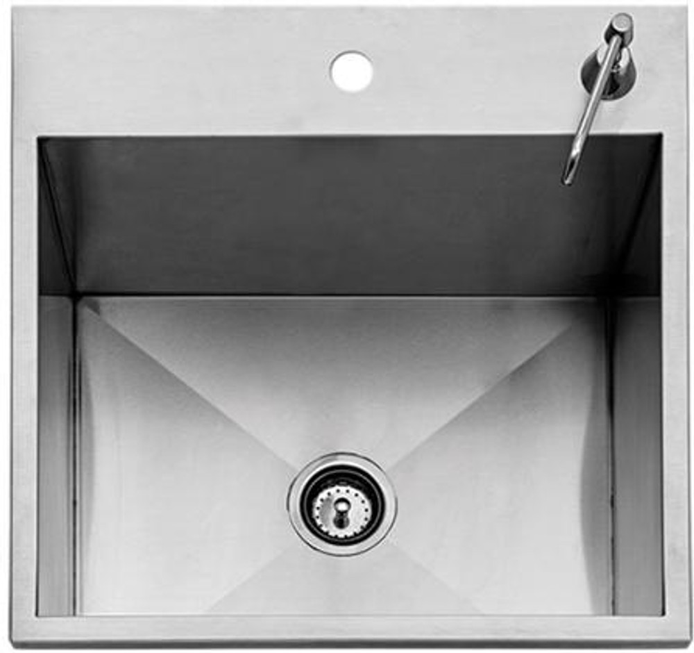 """Twin Eagles 24"""" Outdoor Sink with SS Cover (Faucet Not Included)"""