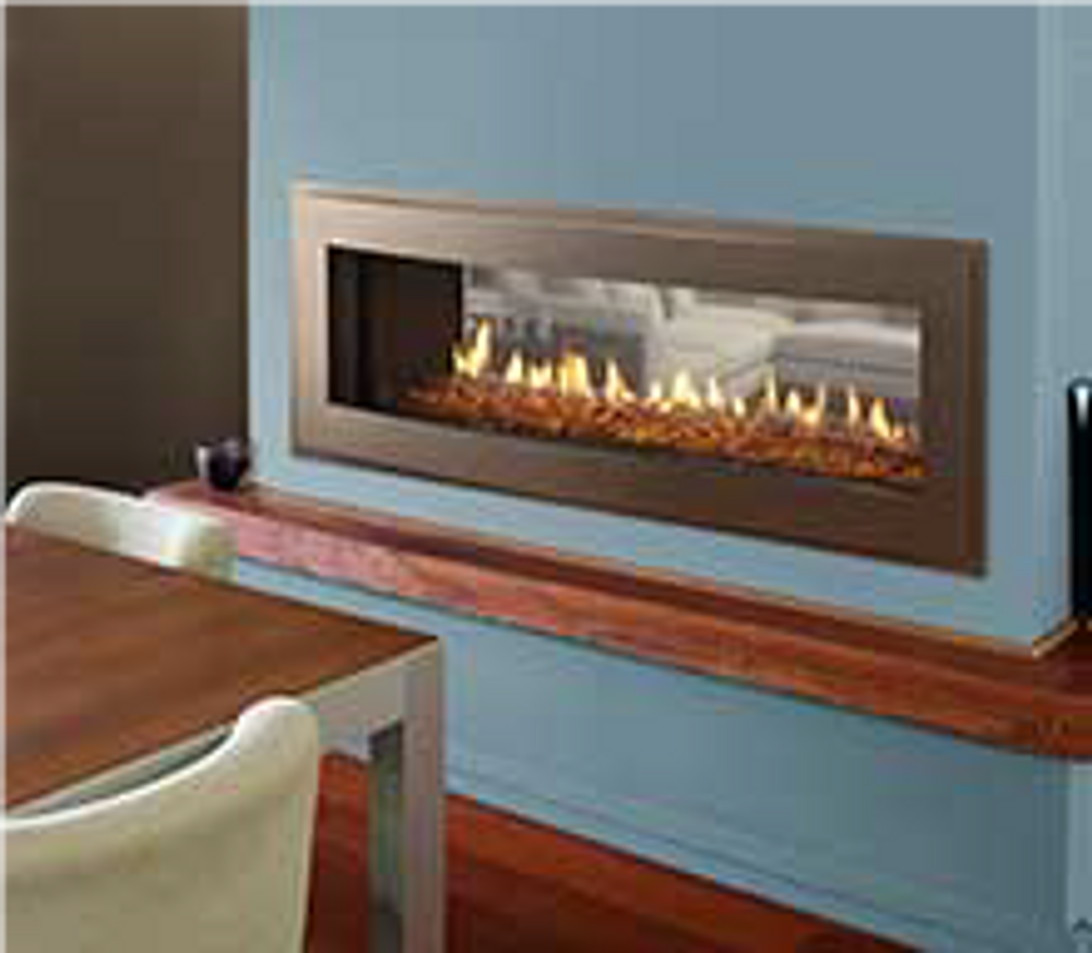 "Heatilator Crave 36"" See-Through Gas Fireplace"