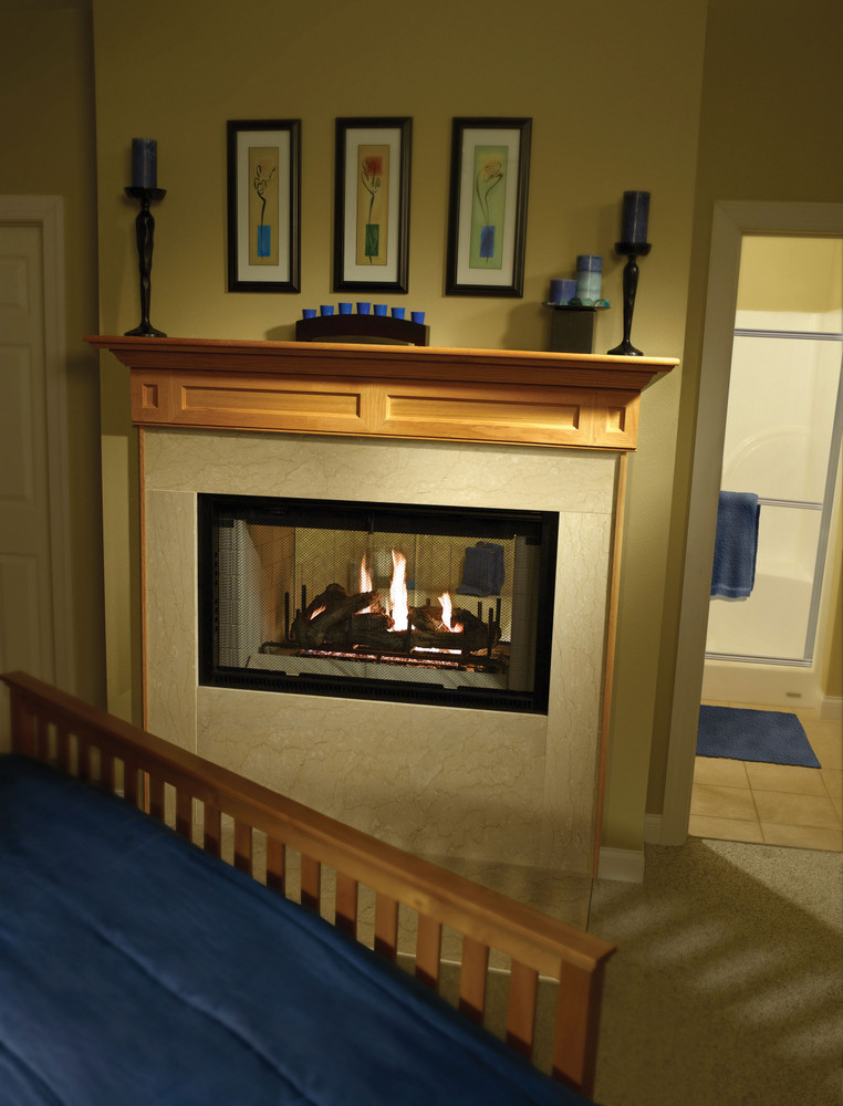 "Heatilator 42"" See-Through Wood Fireplace"