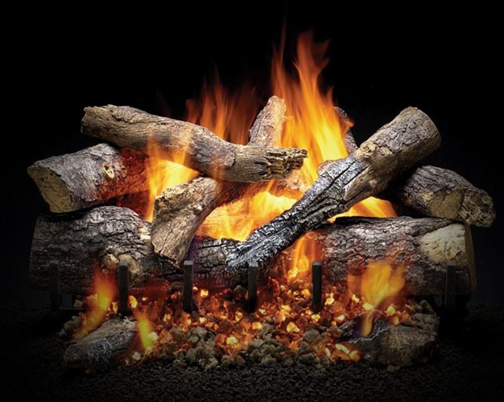 Heatilator Fireside Grand Oak Outdoor Gas Log Set