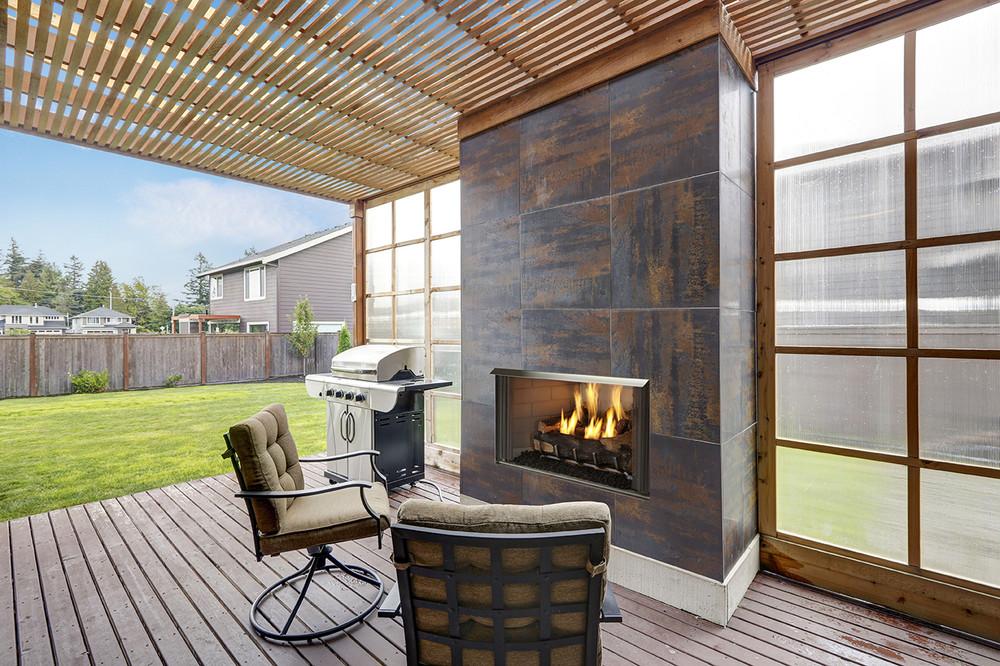 "Heatilator Villa Gas 42"" Outdoor Gas Fireplace"