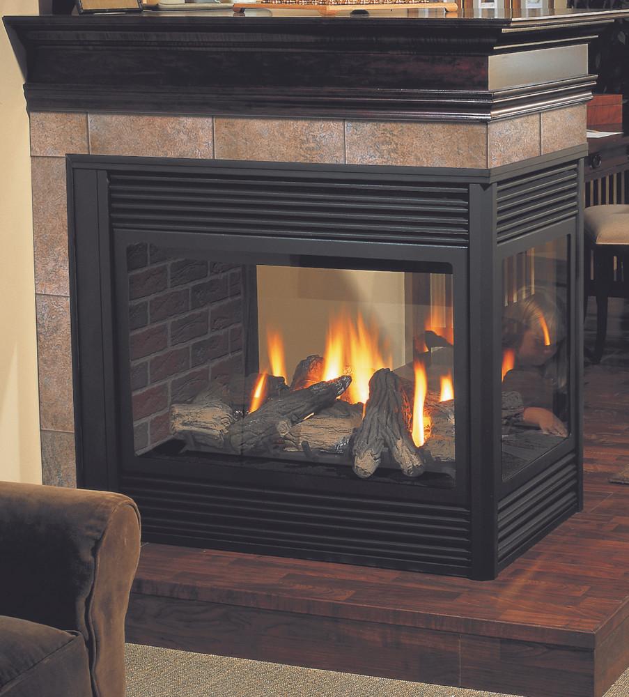 Regency Panorama 131 See-Through Pier Gas Fireplace