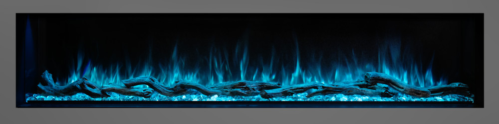 """Modern Flames 80"""" Landscape Pro Multi-Sided Built-In Electric Fireplace"""