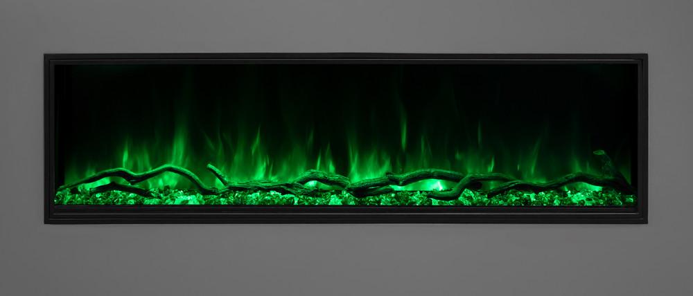 "Modern Flames 56"" Landscape Pro Slim Built-in Electric Fireplace"