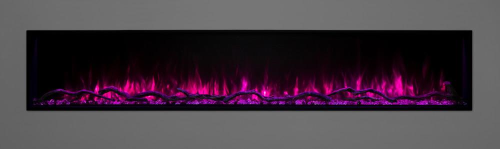 "Modern Flames 80"" Landscape Pro Slim Built-In Electric Fireplace"