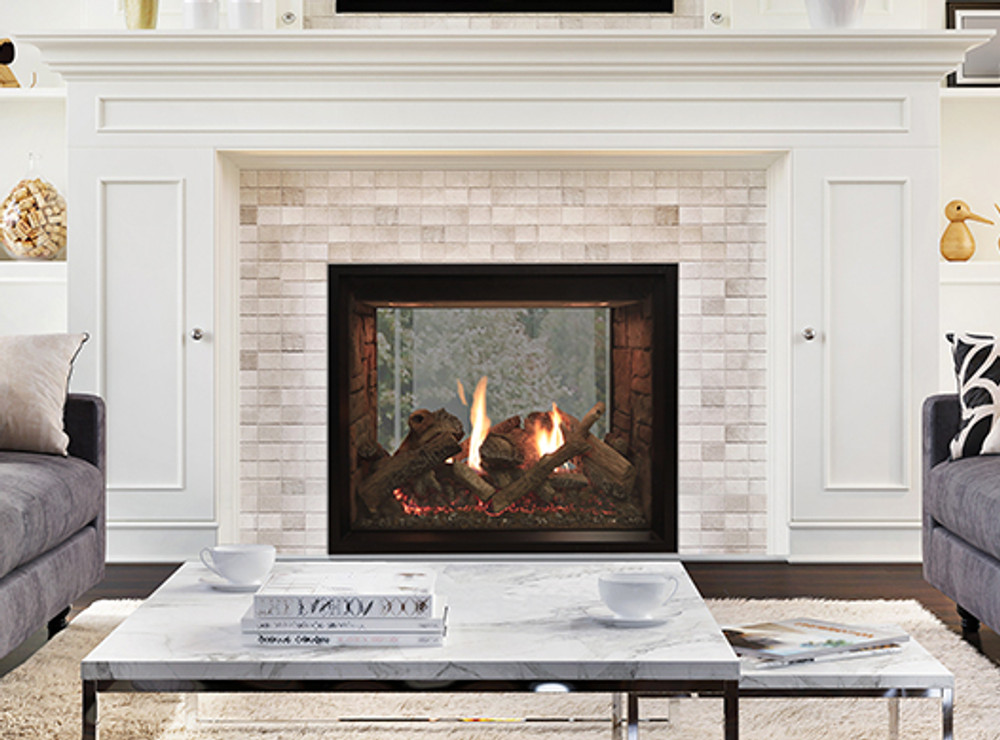 """American Hearth Renegade 40"""" See-Through Clean-Face Gas Fireplace"""