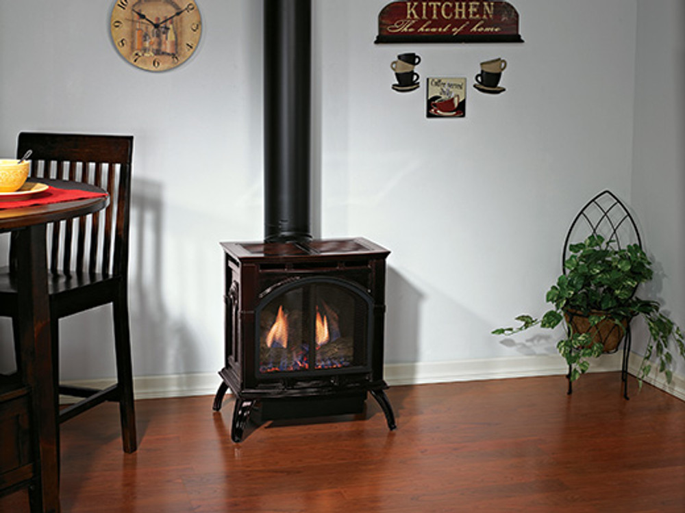 American Hearth Empire Compact Cast Iron Gas Stove