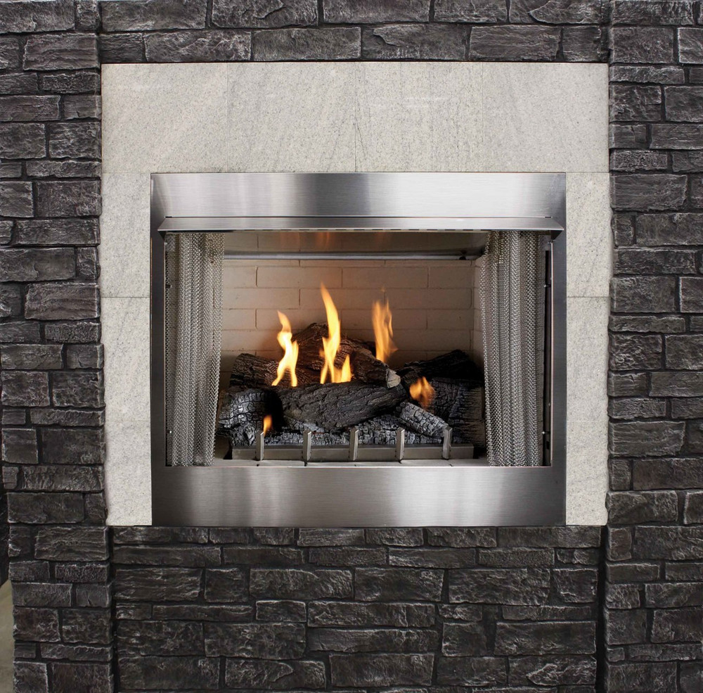 "American Hearth Coral Rose Coastal Premium 42"" Outdoor Firebox"