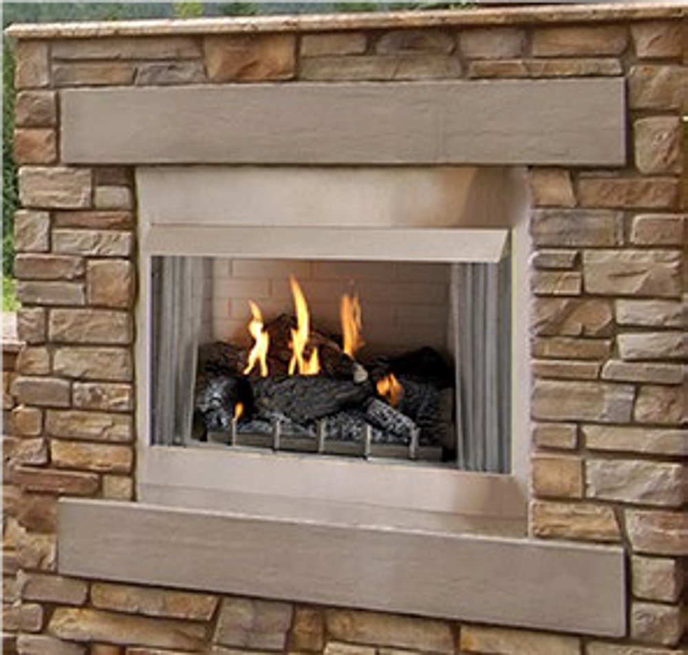 "American Hearth Coral Rose Coastal Premium 36"" Outdoor Fireplace"